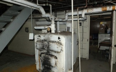 "Old gravity boiler: it's trade name is the ""octopus"""